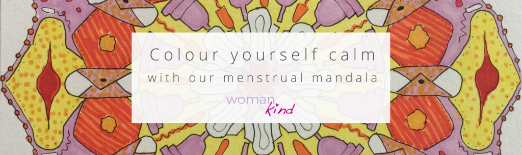 Colour yourself calm with our menstrual mandala