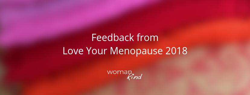 Feedback on Menopause Retreat 2018